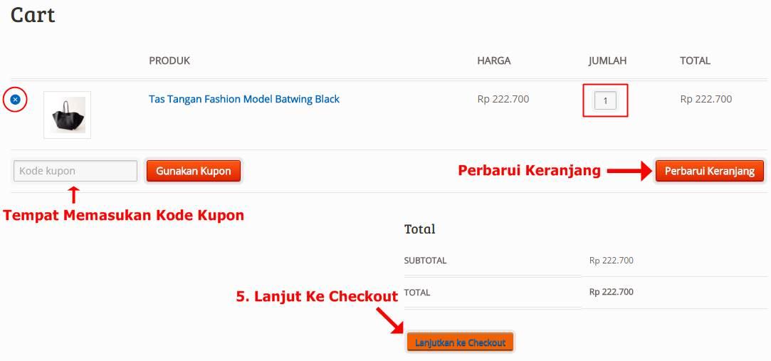 Cara Order Lewat Website Tahap 5