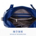 Tas Import 4 in 1 Blue dengan Boneka Beruang - TF694-7