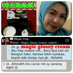 Review Cream Magic Glossy Asli