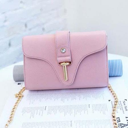 Casual Sling Bag Tali Rantai Soft Puple TF937