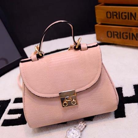 Hand Bag Impor Bahan Pu Leather Pink TF779