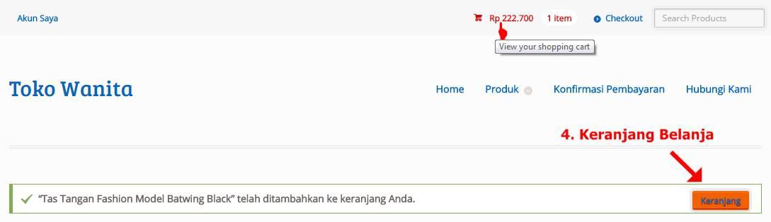 Cara Order Lewat Website Tahap 4