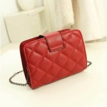 Sling Bag Mini Simple Design With Clip Lock Merah TF882-11