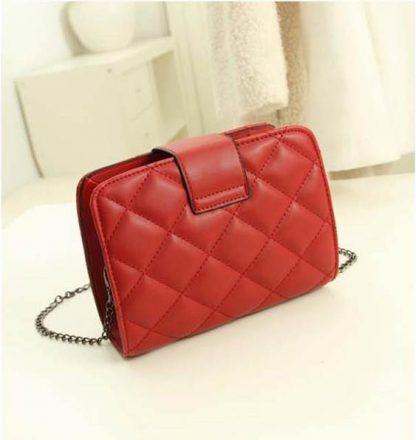 Sling Bag Mini Simple Design With Clip Lock Merah TF882-11