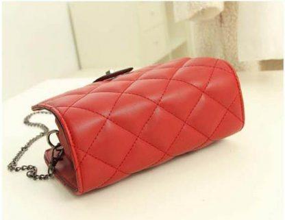 Sling Bag Mini Simple Design With Clip Lock Merah TF882-2