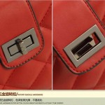 Sling Bag Mini Simple Design With Clip Lock Merah TF882-4