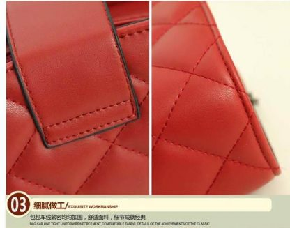 Sling Bag Mini Simple Design With Clip Lock Merah TF882-6