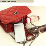 Sling Bag Mini Simple Design With Clip Lock Merah TF882-9