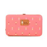 Jims Honey Cute Flower Printing Women Clutch Wallet - Hot Pink