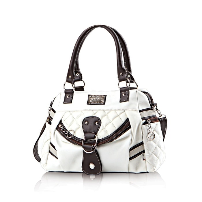 Inficlo Plaid Handbag – White