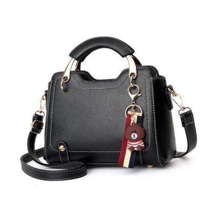 NEW Women's Shoulder Bag with Metal Handle
